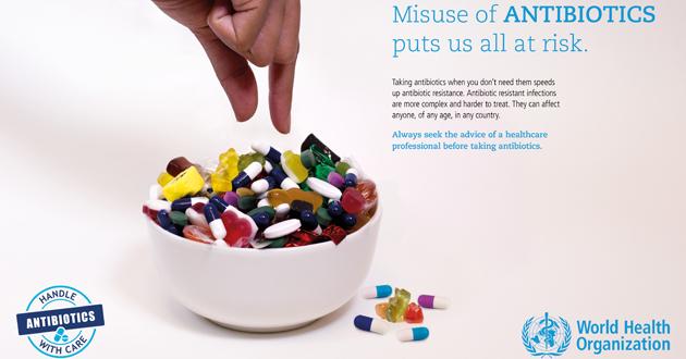 抗生物質の誤った使用は大きなリスクをもたらします