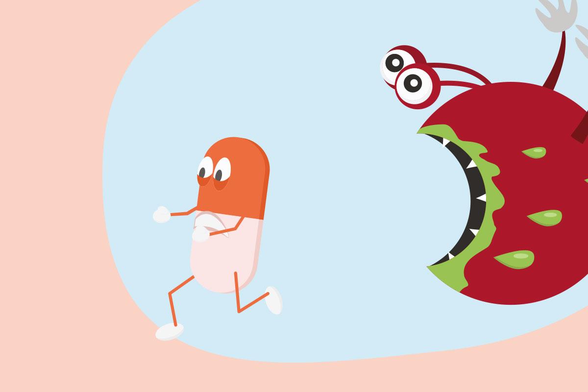抗生物質の短期的な効果と長期的な悪影響