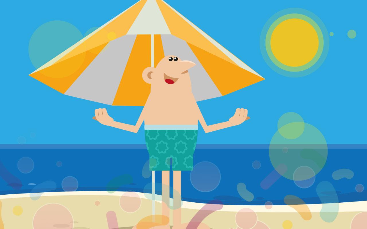 あなたの肌のために適度な日光浴をお勧めします!